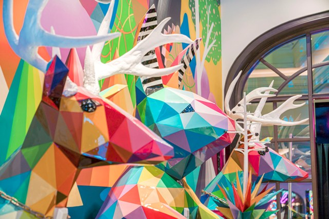 "OKUDA ""Mother Natura"" Installation in Las Vegas"