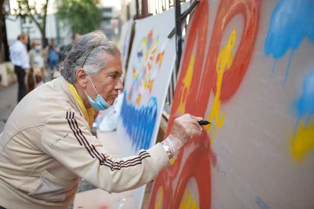 Senior Street Art Workshop in Belgrade