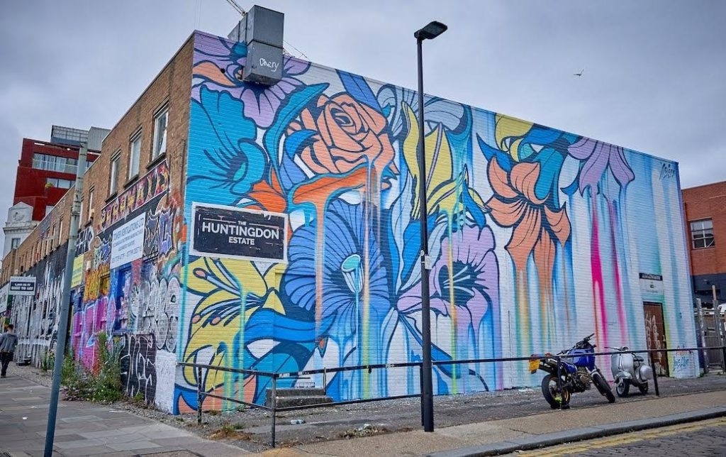 Nerone brings colour to Shoreditch Celebrating end of Lockdown