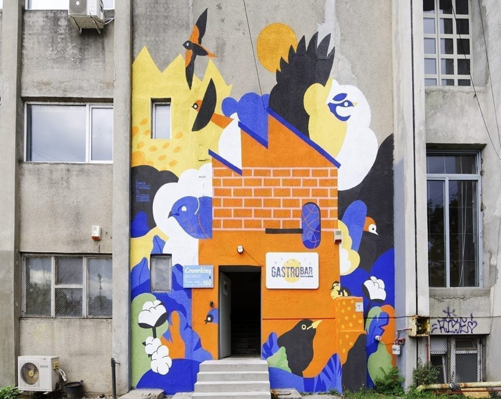 Fresh murals and street art in Bucharest