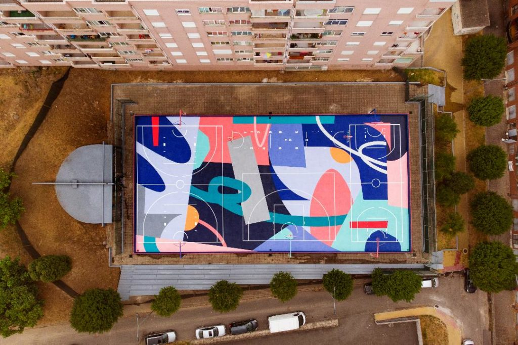 Five artistic Basketball spaces created in Braga, Portugal