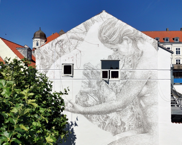 Striking Jacoba mural in Denmark