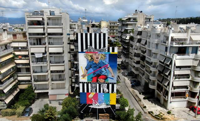 ArtWalk delivers the 3rd mural in Patras