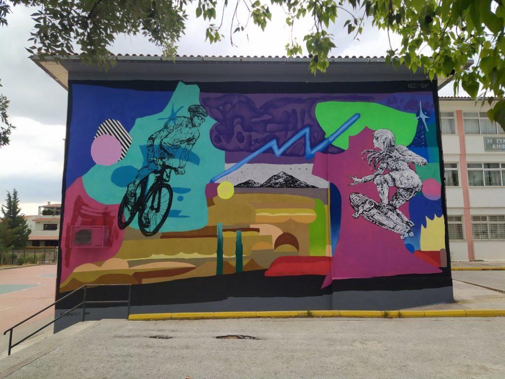 URBANACT 3 Project with KEZ on School wall