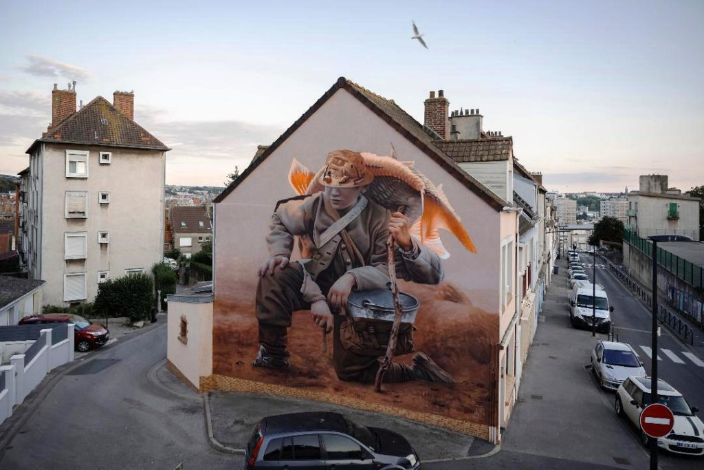 Telmo Miel mural in Boulogne France