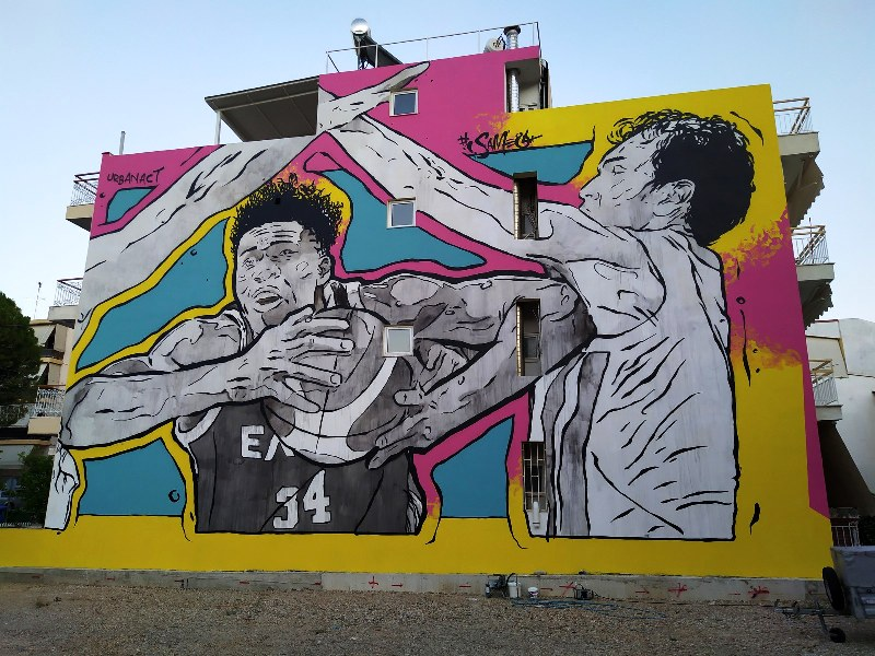 Same84 works for Public mural Programme