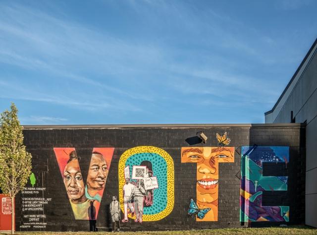 "The Avenue Concept Unveils New ""VOTE"" Mural"