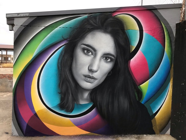 WESLART murals honouring two electronic music female DJ's