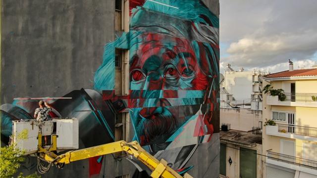ASIER delivers 6th mural for ArtWalk in Patras