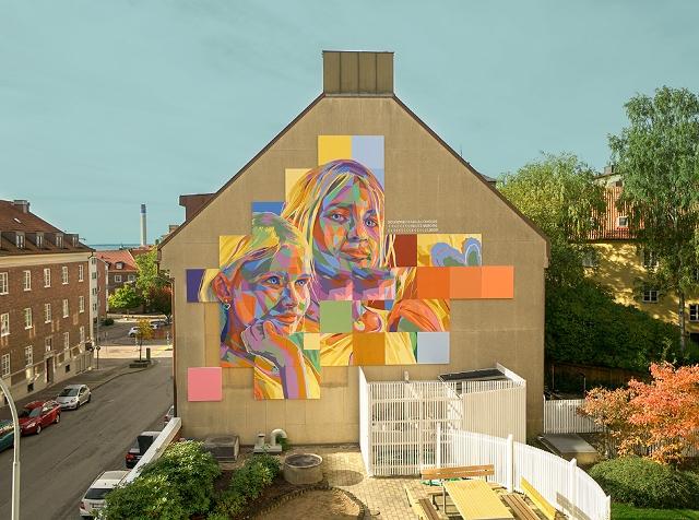 Dourone mural in Helsingborg Sweden