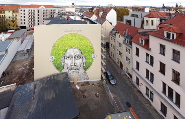 """""""San Pedaleone"""" mural by Mrfijodor and Collettivo FX"""
