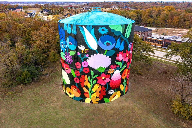 DabsMyla Gives New Life To Monumental Water Tower