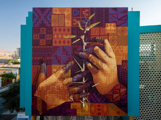 New Mural by INTI in Chile