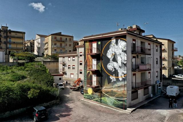 Fabio Petani Mural in Grotte (AG)