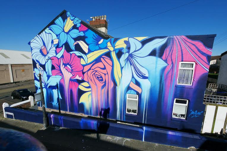 Nerone completes striking 'Belladonna' mural in New Brighton