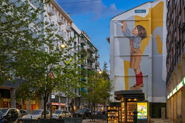 Chekos mural for the Future in Milan