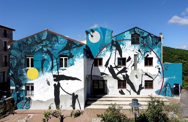 Fabio Petani mural for Florales Festival