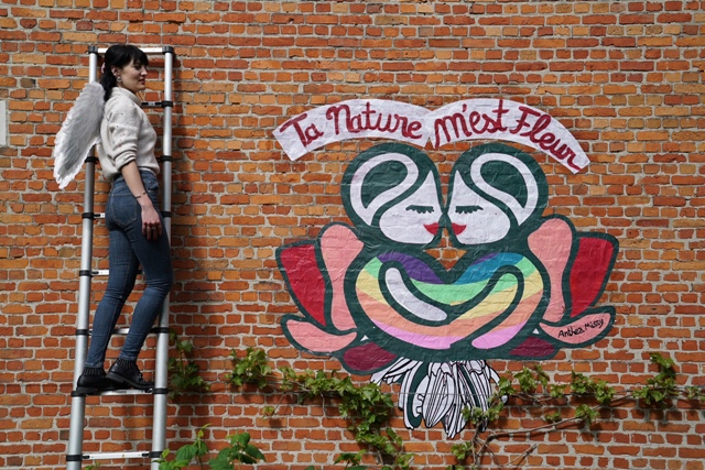 Poetic LGBTQI street art by Anthea Missy