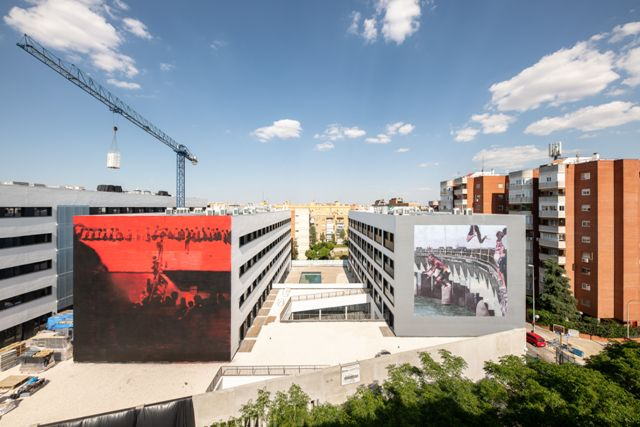 Axel Void makes two new murals in Seville