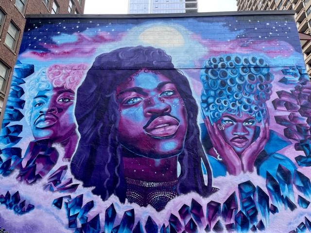 Lil Nas X mural by Ash Ryan