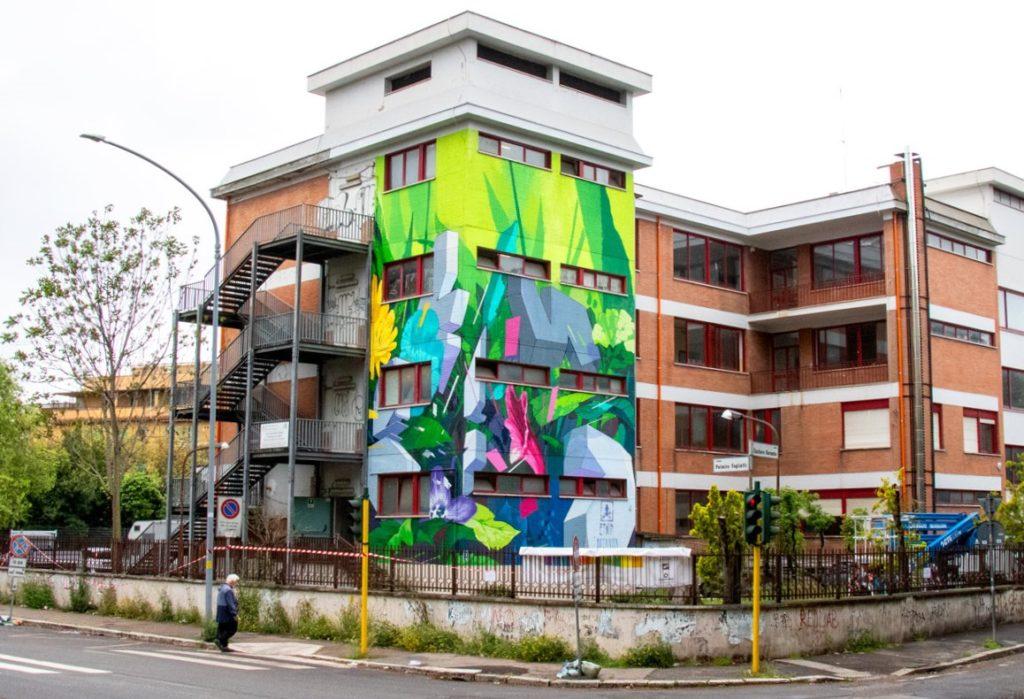 """""""Botanica Resistente"""" mural by ETNIK in Rome"""