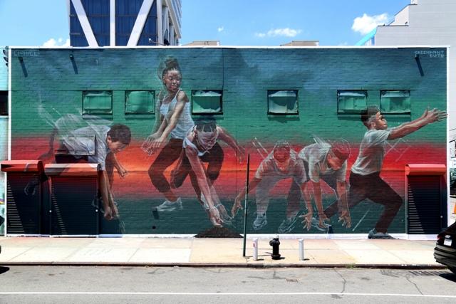Mural realization by Aaron Li-Hill & GreenPoint EARTH