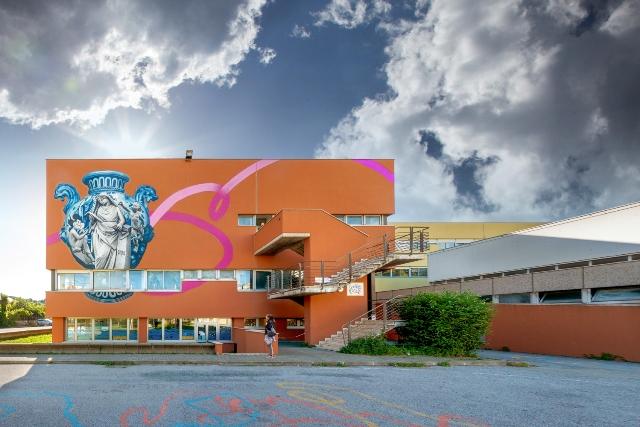New mural by OZMO in Albisola
