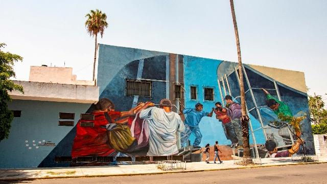 New Jupiterfab murals about migration in Mexico