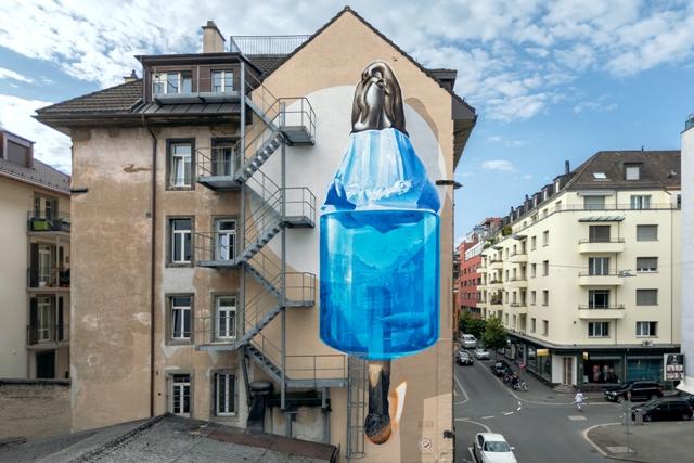 NEVERCREW Climate mural in Switzerland
