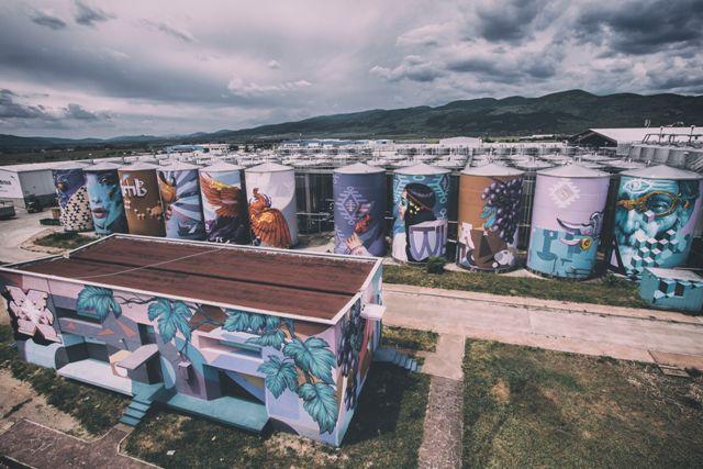 'Embers' Mega Silo Art Project by Nasimo