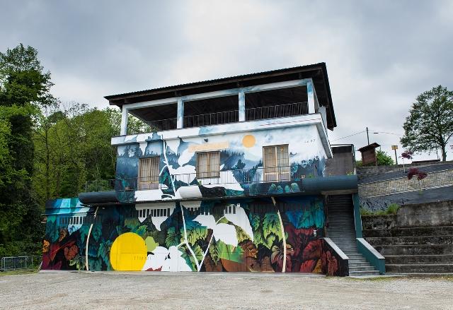Fabio Petani mural in Prarostino
