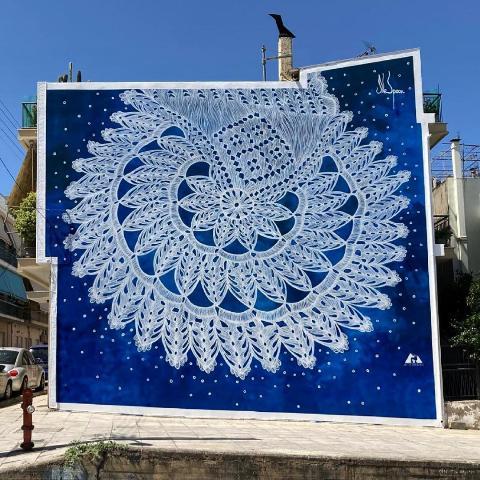 NeSpoon delivers 3d mural for 6th ArtWalk Festival