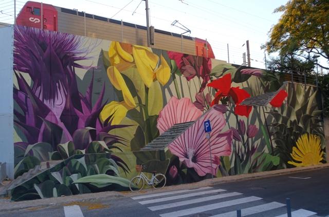 Thiago Mazza mural for Festival MURO LX Lisboa