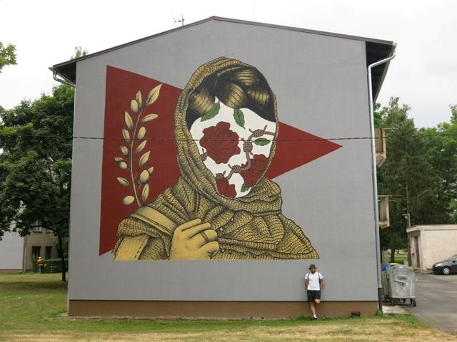 PoliteBastART mural in Croatia