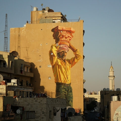 New Mural by Jofre Oliveras and Dalal Mitwally in Amman