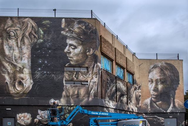 Longest Northern UK Mural by Nomad Clan