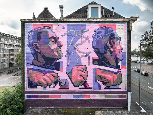 MOTS mural for POW! WOW! Rotterdam 2021