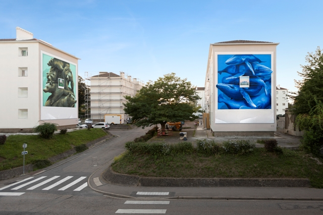 NEVERCREW murals in Jarville-la-Malgrange