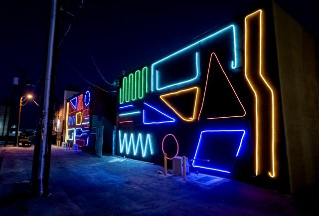 Artist SPIDERTAG Lights Up Downtown Las Vegas